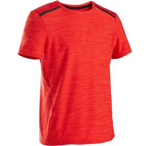 T-Shirt Synthetik atmungsaktiv Kurzarm S500 Gym Kinder rot
