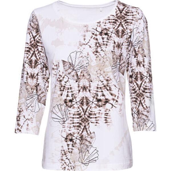 Adagio Shirt, 3/4-Arm, Print, Strass, für Damen