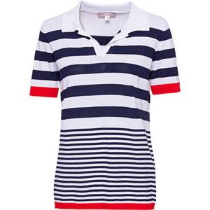 Adagio Poloshirt, 1/2-Arm, geringelt, für Damen
