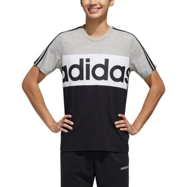 adidas Essentials T Shirt Colorblock, für Herren hellgrau