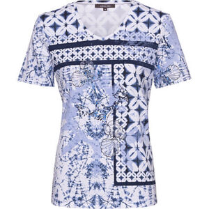 Adagio Shirt, 1/2-Arm, Print, Strass, für Damen
