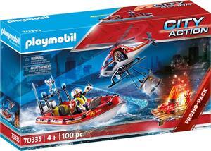 PLAYMOBIL 70335 Feuerwehreinsatz Heli und Boot