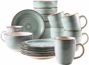 Home affaire Kaffeeservice »Bel Tempo« (18-tlg), Keramik
