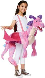 Kostüm Pink Drachen zum Reiten, 1-tlg. Gr. 98/128