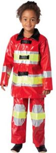 Kostüm Feuerwehrmann / Feuerwehrfrau rot, 2-tlg. Gr. 110/116