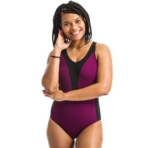 Badeanzug Aquagym Opallux Plum Damen schwarz