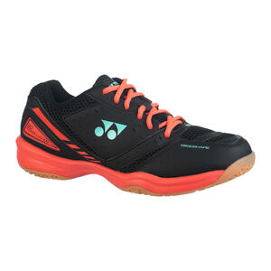 Badmintonschuhe Power Cushion 30 Squash indoor Herren schwarz/rot