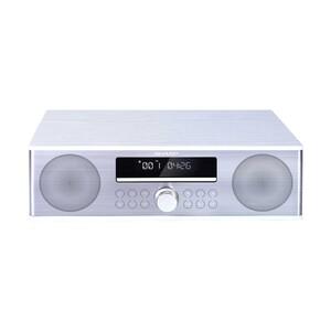 All-in-One-Soundsystem XL-B715D • 90 Watt RMS • CD-Player, MP3, FM-Radio • USB-Anschluss, Aux-In • inkl. Fernbedienung • Maße: H 11 x B 36,6 x T 23,2 cm  *Sticker: Holzgehäuse und Edelsta