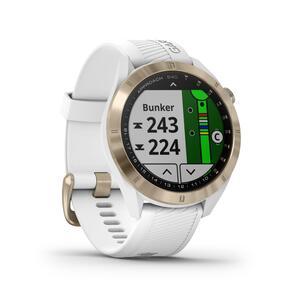 GPS-Golfuhr Approach S40 Premium weiss/rosa