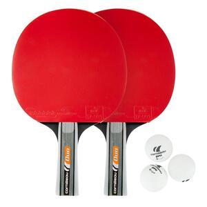 Tischtennis Set mit 2 Tischtennisschlägern 3 Bällen