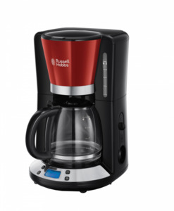 Russell Hobbs Colours Plus Digitale Glas-Kaffeemaschine Rot