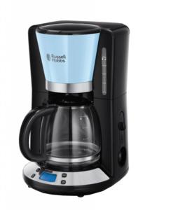 Russell Hobbs Colours Plus Digitale Glas-Kaffeemaschine Blau