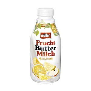 müller Fruchtbuttermilch oder Fructiv versch. Sorten, jede 440-ml/500-g-Flasche