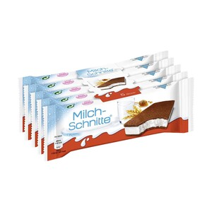 Milch-Schnitte 5 x 28 = 140 g oder kinder Pingui 4 x 30 = 120 g jede Packung