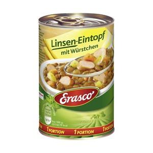 Erasco 1 Portion Linseneintopf oder Gulaschsuppe und weitere Sorten, jede 400g/390-ml-Dose