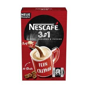 Nescafé Sticks löslicher Kaffee 3in1 und 2in1 jede 10er=165/80-g-Packung