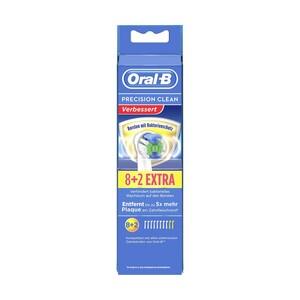 Oral-B Aufsteckbürsten 8+2 extra Cross Action oder Precision Clean Borsten mit Bakterienschutz, jede Packung