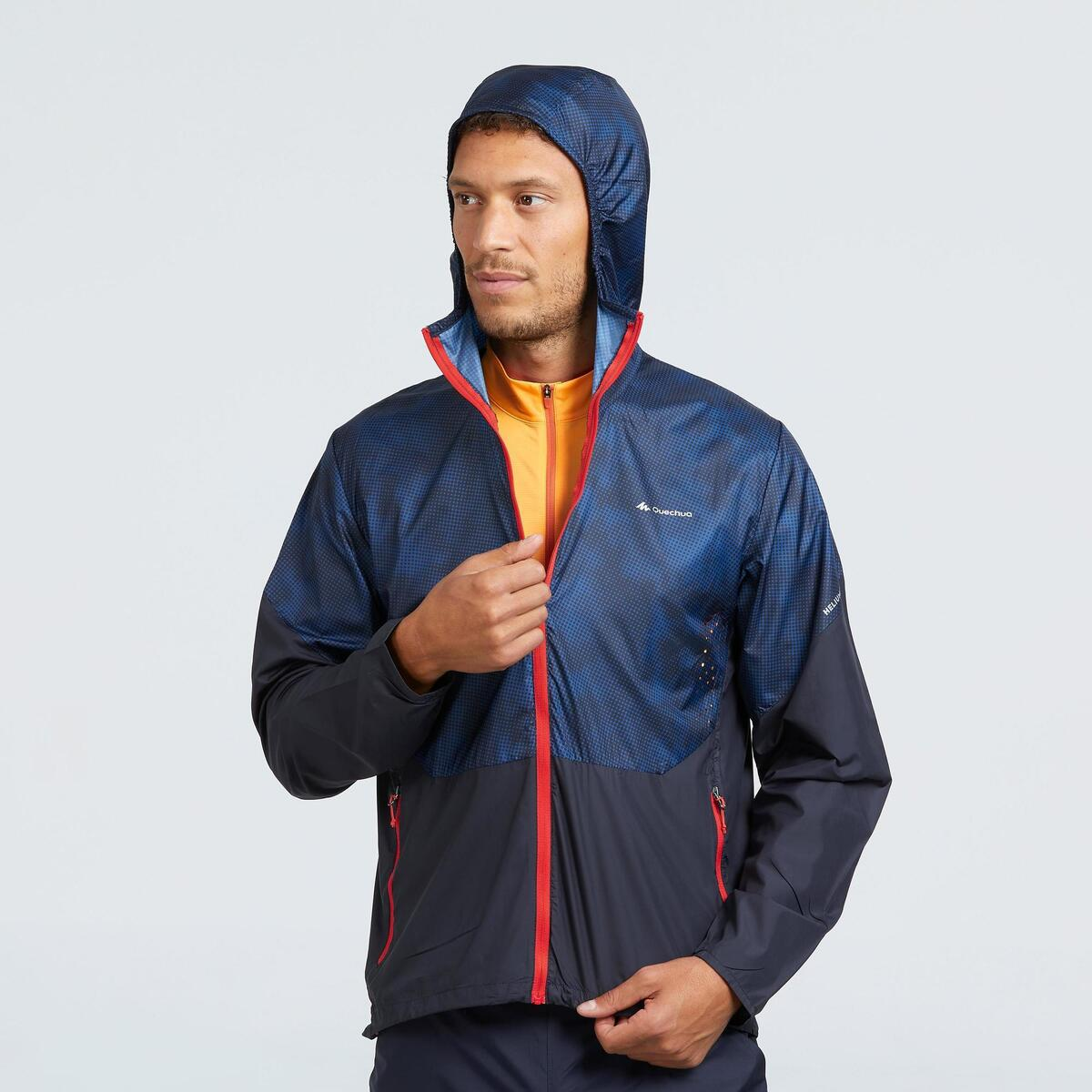 Bild 2 von Windjacke Speed Hiking FH500 Helium Herren blau/rot