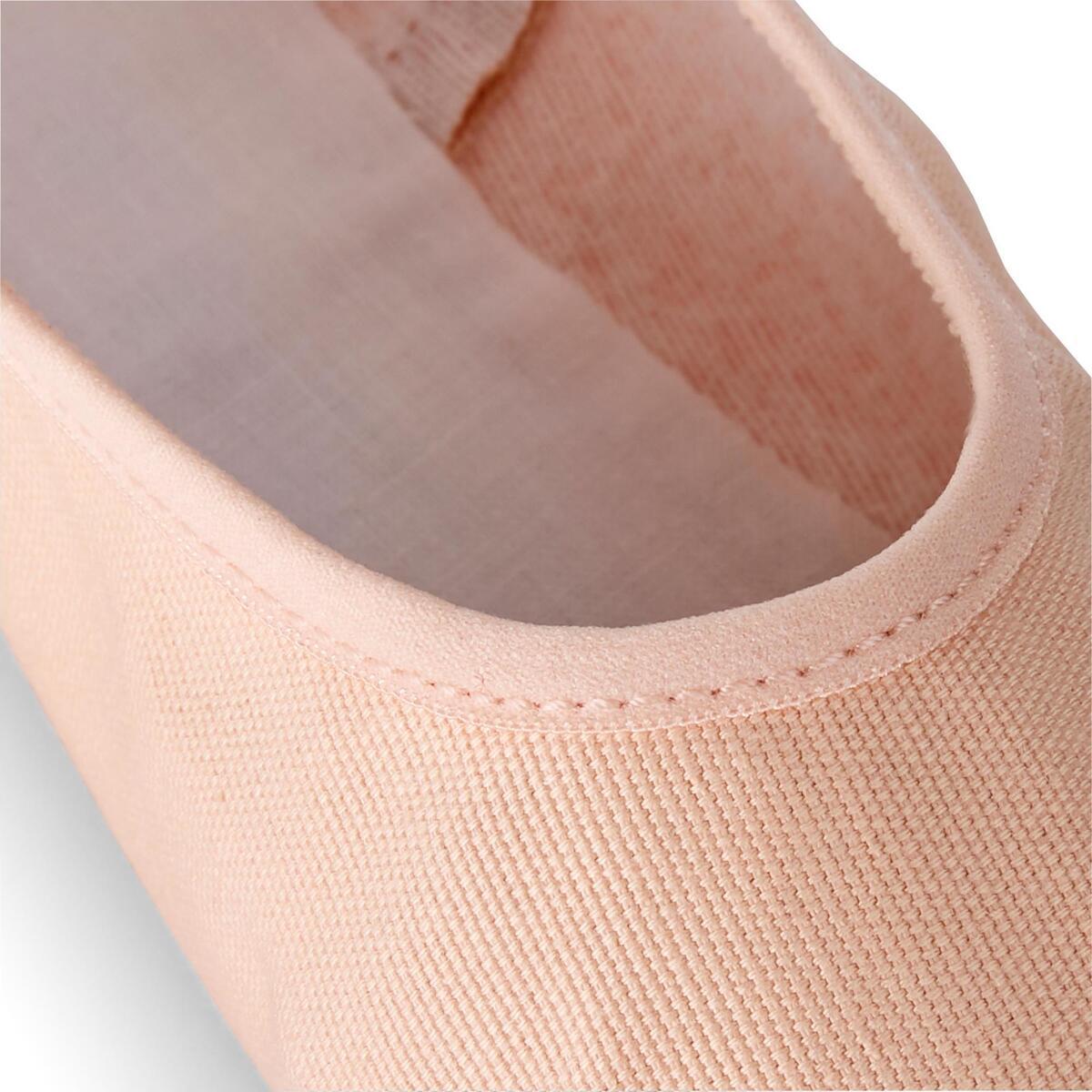 Bild 2 von Ballettschuhe Halbspitze Leinen durchgehende Sohle Gr.25–40 lachsfarben