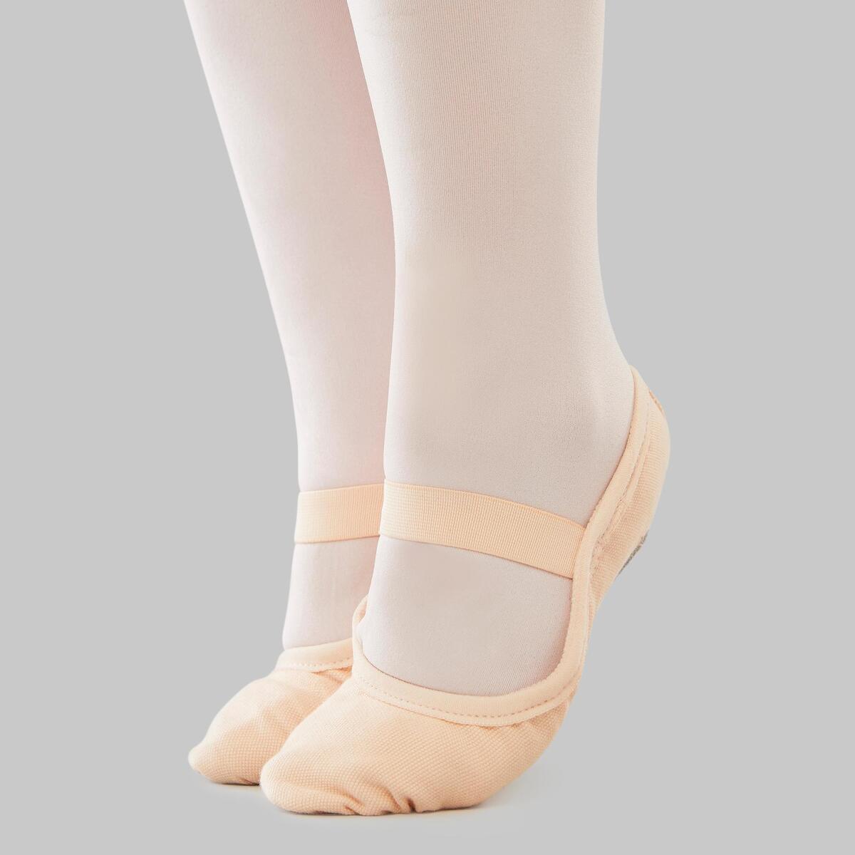 Bild 4 von Ballettschuhe Halbspitze Leinen durchgehende Sohle Gr.25–40 lachsfarben