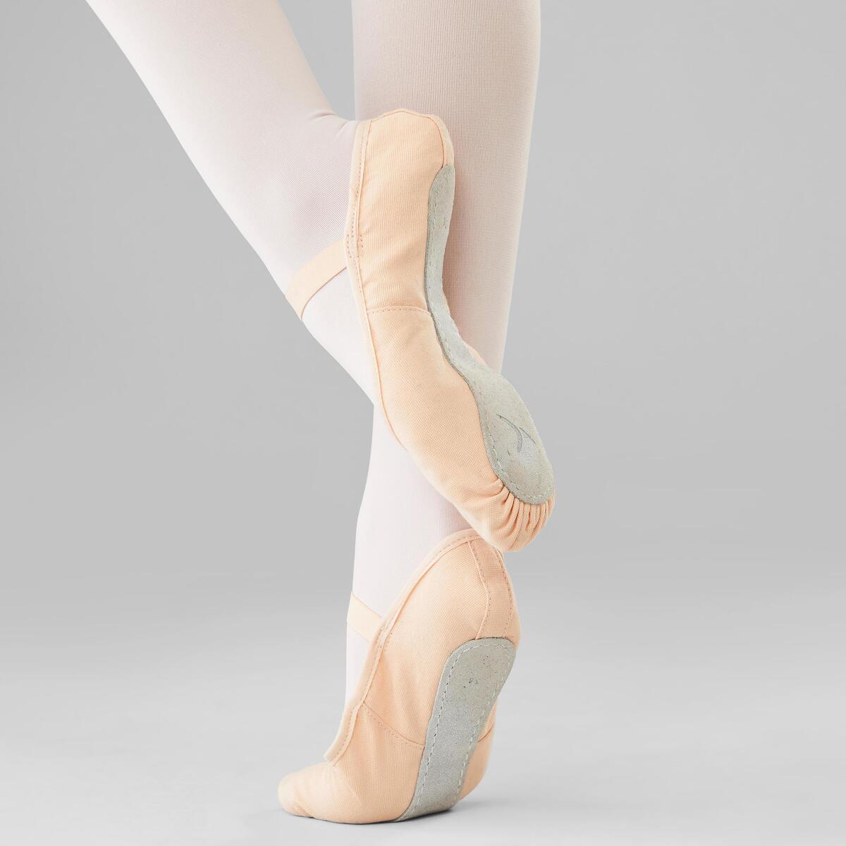 Bild 5 von Ballettschuhe Halbspitze Leinen durchgehende Sohle Gr.25–40 lachsfarben