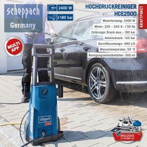 Scheppach Hochdruckreiniger HCE2500 - inklusive 10-teiliges Set