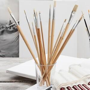 Paper Scrip Ölmal- und Acrylpinselset, 18 teilig
