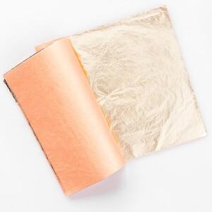 Paper Scrip Blattmetall, gold, 25 Stück