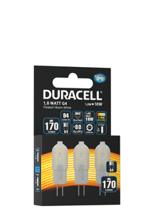 Duracell Spezial LED Leuchtmittel G4 Power 3er-Set