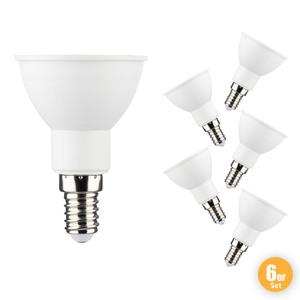 I-Glow LED Leuchtmittel, JDR E14, 6W 6er Set