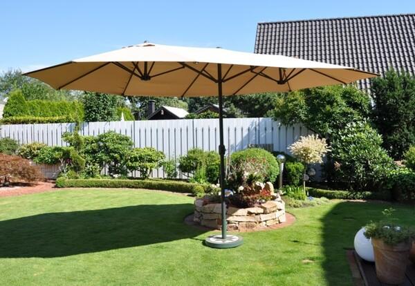 Solax Sunshine Oval-Sonnenschirm, Natur