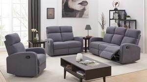Happy Home Sofa-Set mit Recliner HSS01-GRA