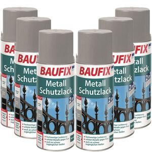BAUFIX Metallschutzlack Spray schwarz 6er-Set