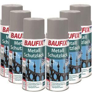 BAUFIX Metallschutzlack Spray weiß 6er-Set