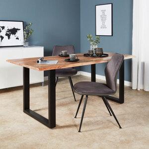 Baumkanten-Holztisch, 180 x 90 cm, Akazienholz