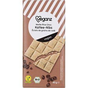 Bio Veganz Weiße Rice Choc Kaffee-Nibs 80g