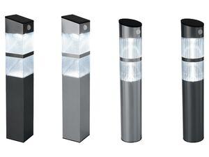 LIVARNO LUX® Solar-Gartenleuchte, mit Bewegungsmelder, Dämmerungssensor, Edelstahlgehäuse