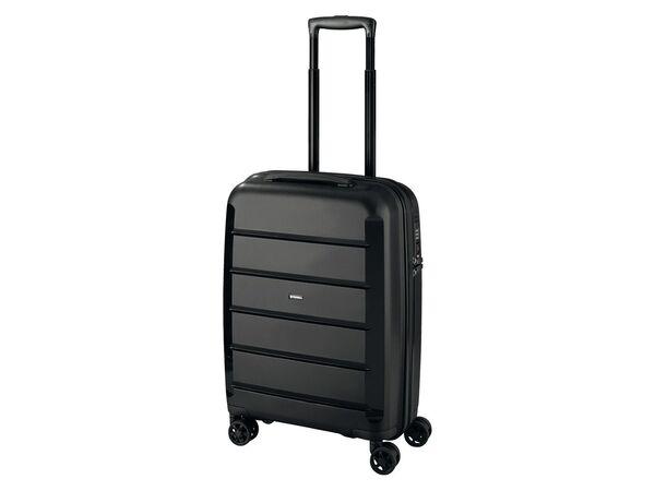 TOPMOVE® Koffer, 30 L Volumen, maximal 10 kg Füllgewicht, mit 4 Rollen, schwarz