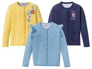 LUPILU® Kleinkinder Cardigan Mädchen, mit Stickerei oder Rüsche, aus reiner Baumwolle