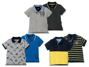 LUPILU® Kleinkinder Poloshirt Jungen, 2 Stück, verlängerter Rücken, aus reiner Baumwolle