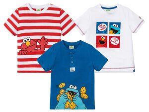 Kleinkinder T-Shirt Jungen, mit Seitenschlitz oder Patch am Ärmel, aus reiner Baumwolle