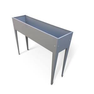 Metall-Hochbeet 100 x 80 x 27 cm grau