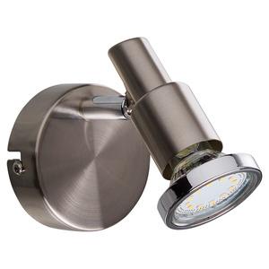 LED-Strahler 'Alexa' nickelfarben matt GU10 3 W 1-flammig