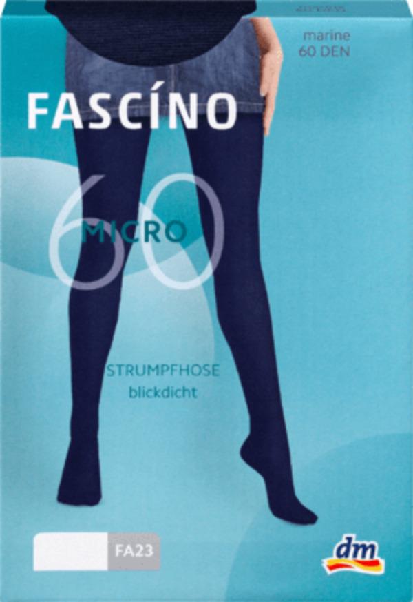 FASCÍNO Strumpfhose aus Microfaser 60 DEN, marine Gr. 50