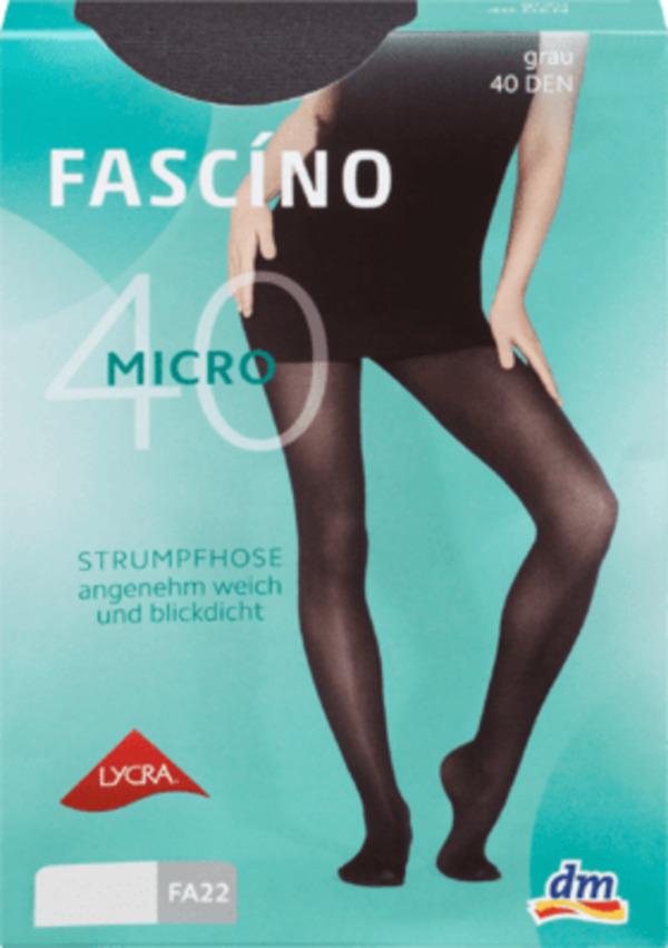 FASCÍNO Micro-Strumpfhose 40 DEN, grau Gr. 50/52 von dm