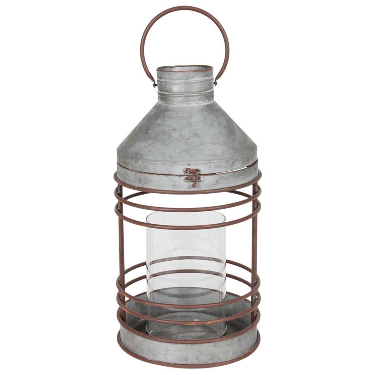Bild 2 von Outdoor-Laterne aus Zink mit Glaseinsatz 51,5cm