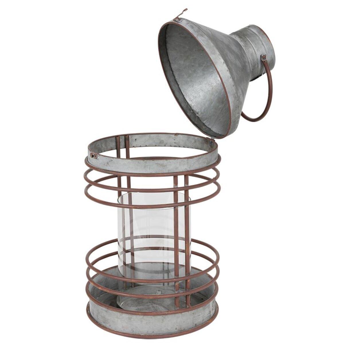 Bild 3 von Outdoor-Laterne aus Zink mit Glaseinsatz 51,5cm