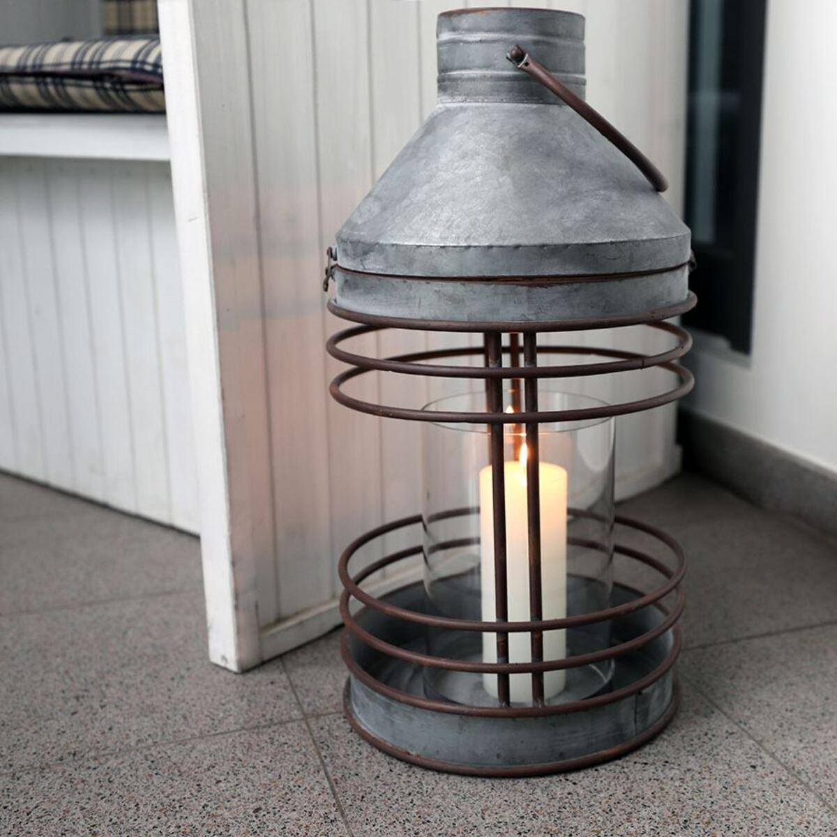 Bild 5 von Outdoor-Laterne aus Zink mit Glaseinsatz 51,5cm