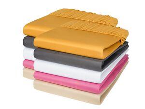 MERADISO® Spannbettlaken, 2 Stück, 90-100 x 200 x 25 cm, aus reiner Baumwolle