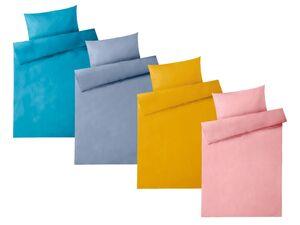 MERADISO® Perkal Bettwäsche, mit Reißverschluss, aus reiner Baumwolle, 135 x 200 cm
